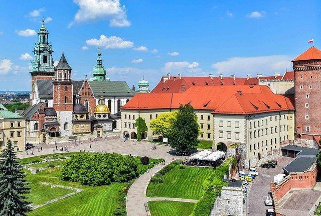 castello di Wavel, la meta finale della strada reale nel centro storico di Cracovia