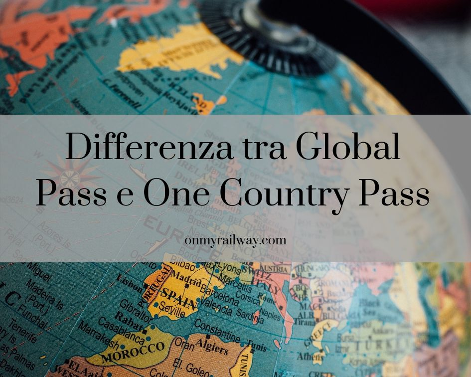 differenza tra interrail global pass e one country pass