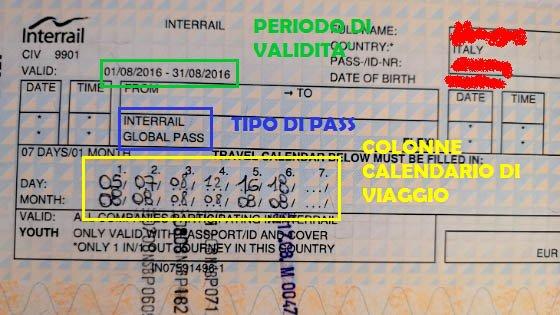 Calendario di viaggio